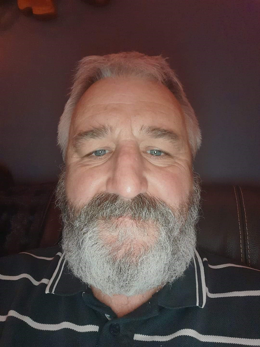 One of our supporters, David Howard, showing off his beard as part of our Decembeard campaign