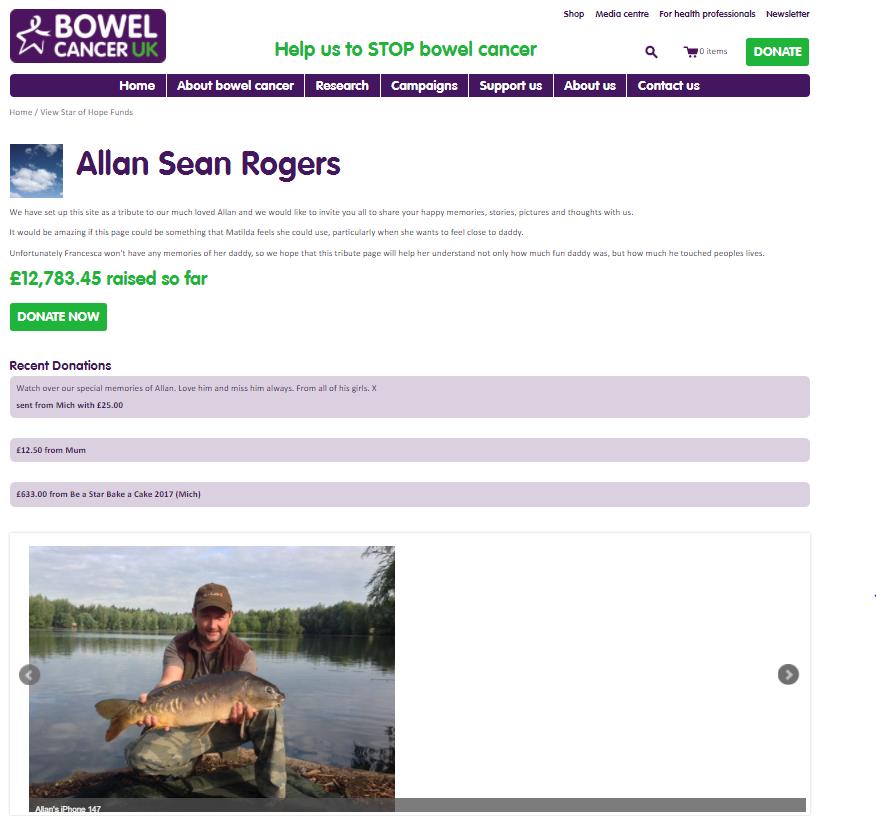 Allan Rogers' Star of Hope Fund