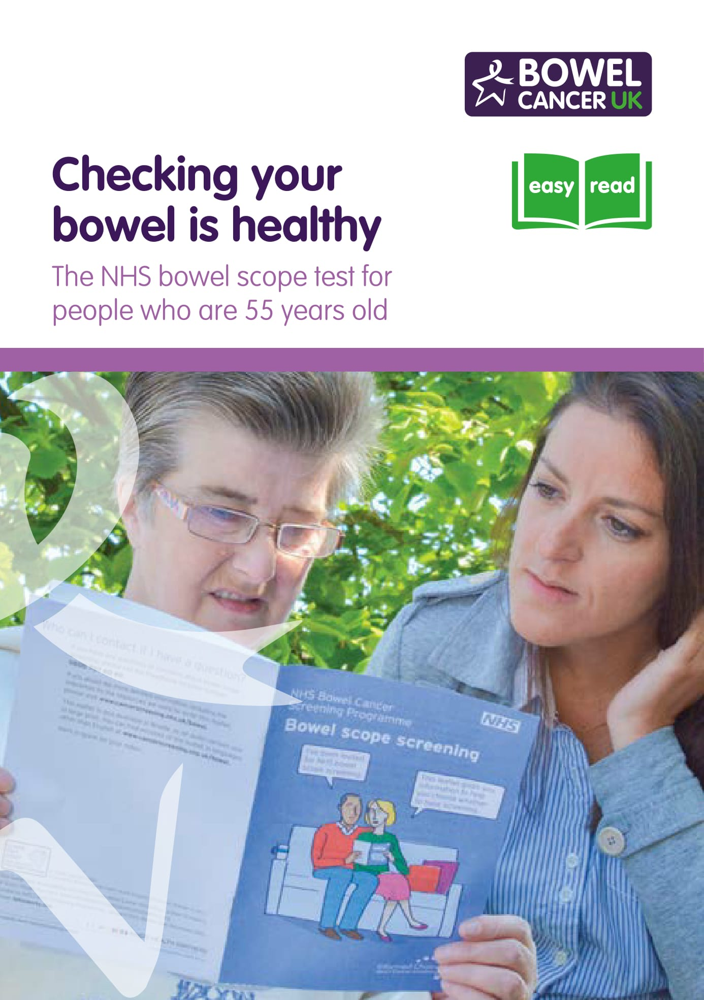 Leaflets, booklets and posters | About bowel cancer | Bowel