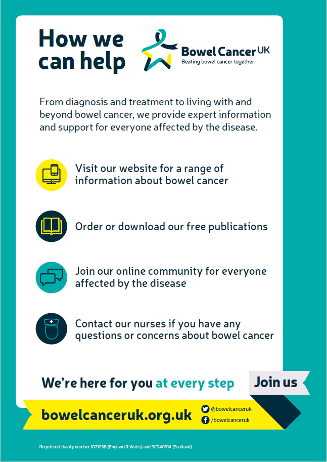 Support For You Services How We Can Help Bowel Cancer Uk