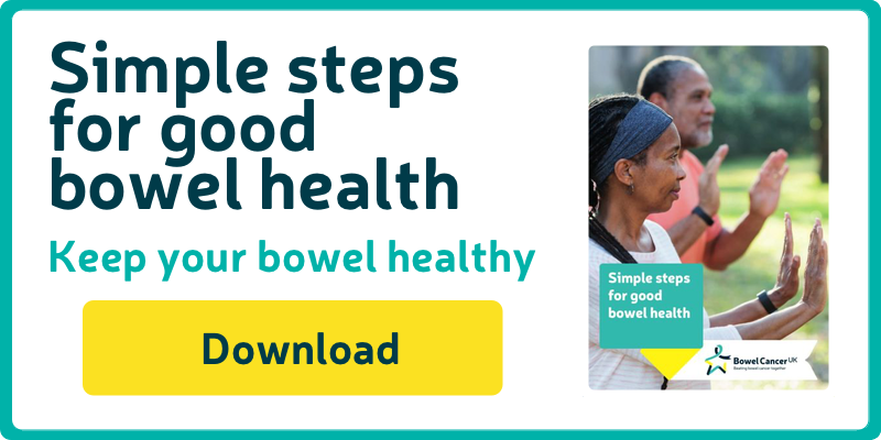 Download our Simple steps for good bowel health booklet