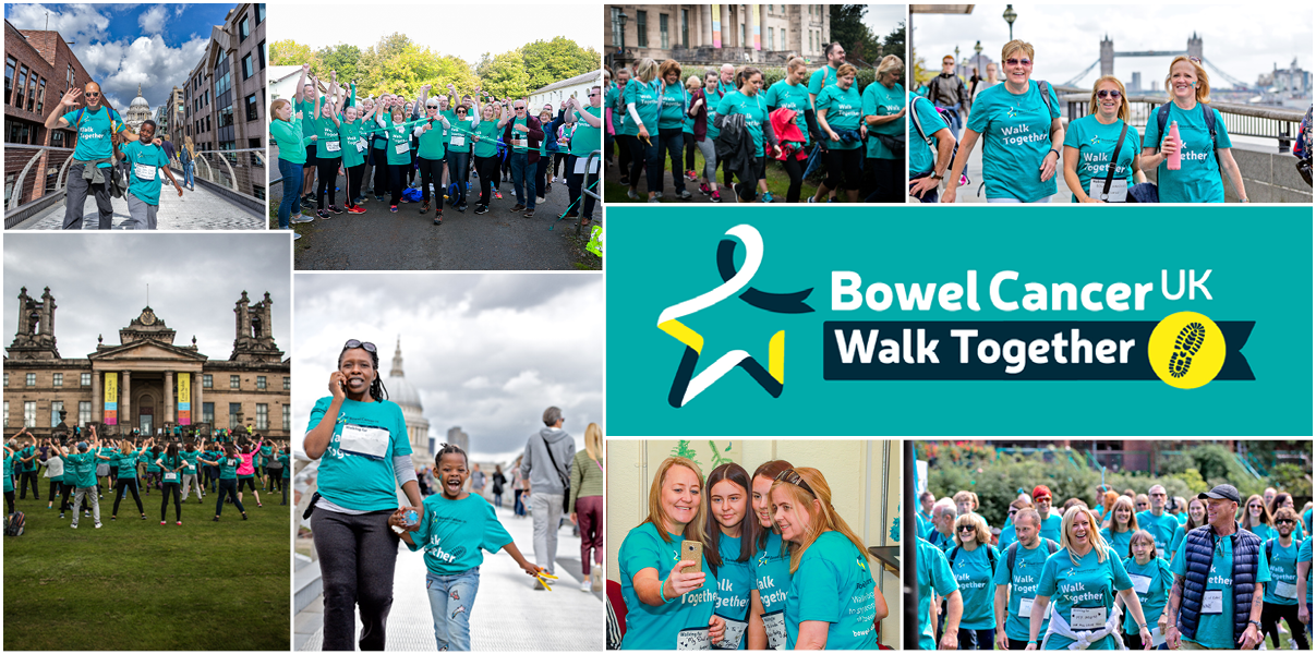 Join Us For Walk Together To Stop People Dying Of Bowel Cancer Bowel Cancer Uk